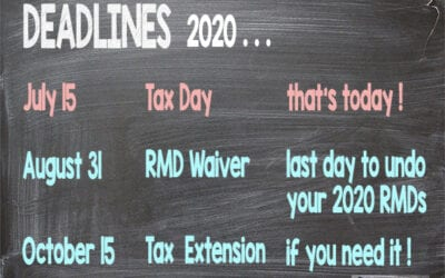 August 31: Last Day to Undo Your 2020 RMDs