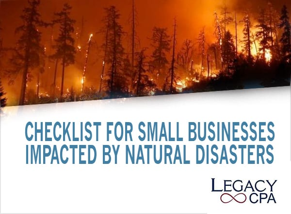 Checklist for Small Businesses Impacted by Natural Disasters